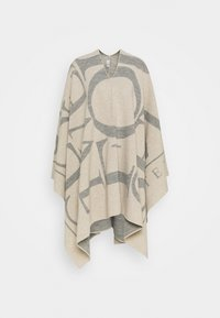 CLOSED - KNITTED PONCHO - Cape - almond cream - 0