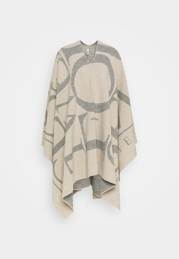 KNITTED PONCHO - Poncho - almond cream