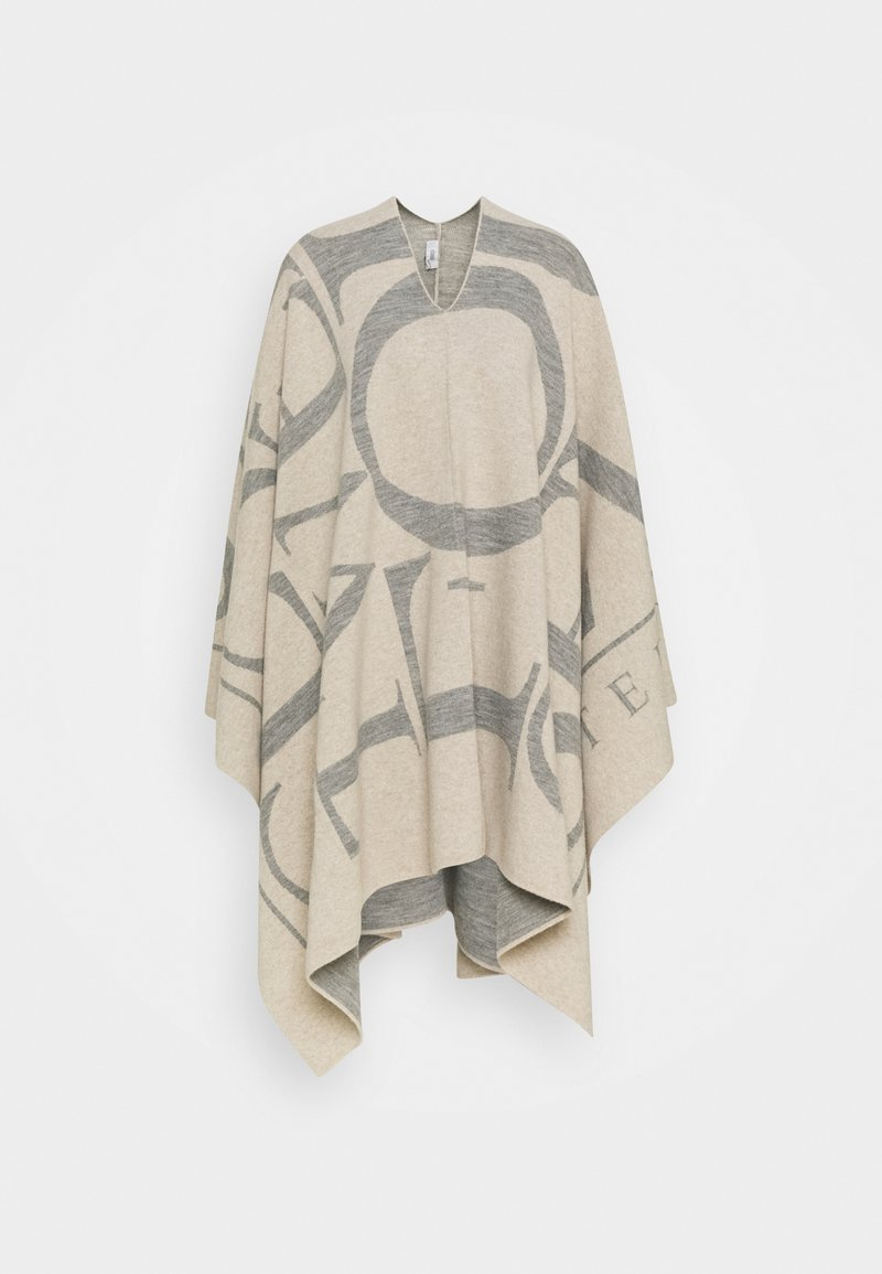 CLOSED - KNITTED PONCHO - Cape - almond cream