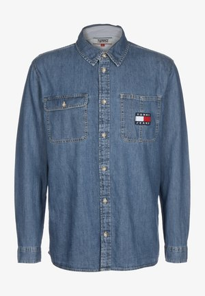 LONGSLEEVE DENIM BADGE - Skjorter - mid indigo