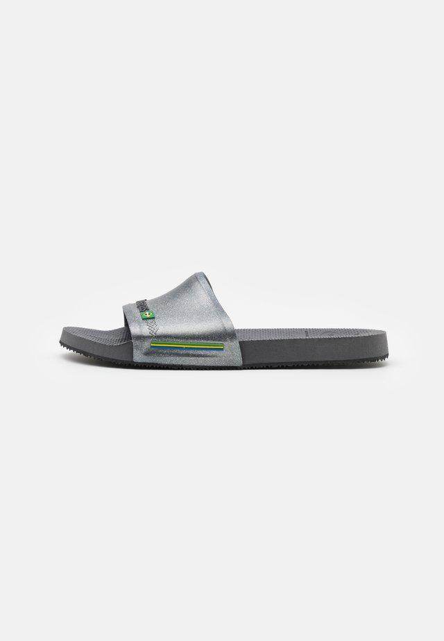 SLIDE BRASIL UNISEX - Sandały kąpielowe - new graphite