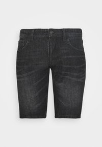 Denim shorts - dark stone/black denim