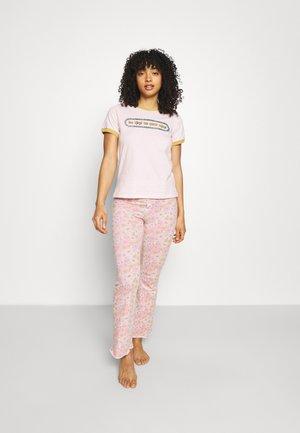 RINGER BED PANT SET - Pyjamas - be kind pretty pink