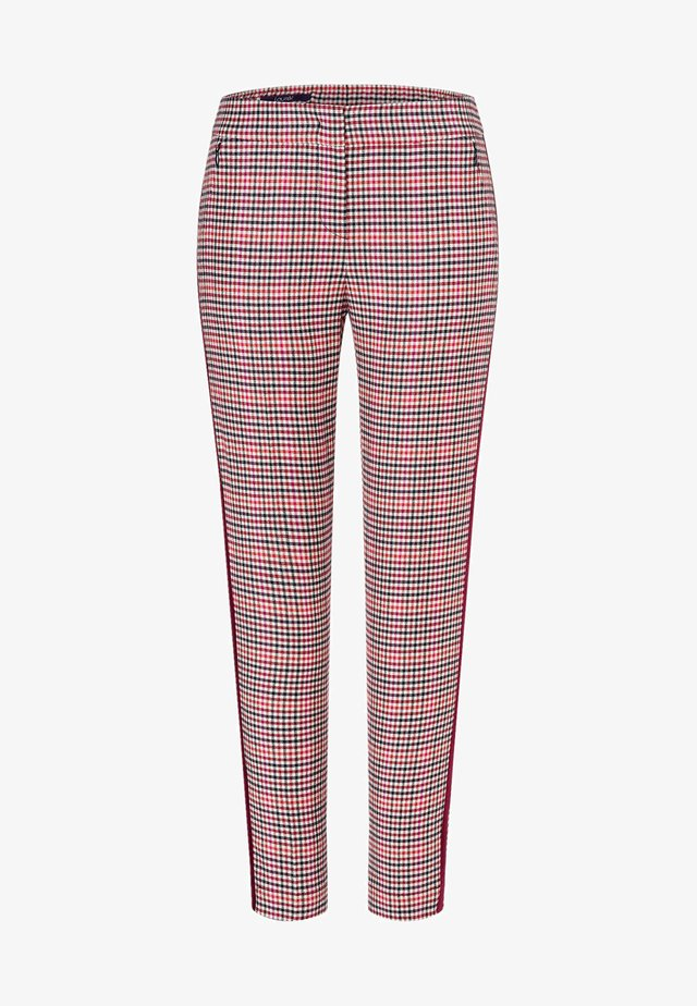 MIT STREIFEN - Trousers - red
