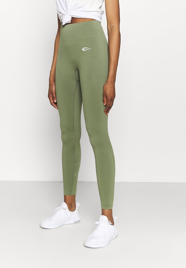 SEAMLESS LEGGINGS COOL - Leggings - khaki