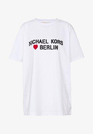 BERLIN HEART TEE - Print T-shirt - white