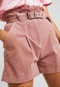Lost Ink - PAPERBAG WITH BELT - Shorts - light pink - 5
