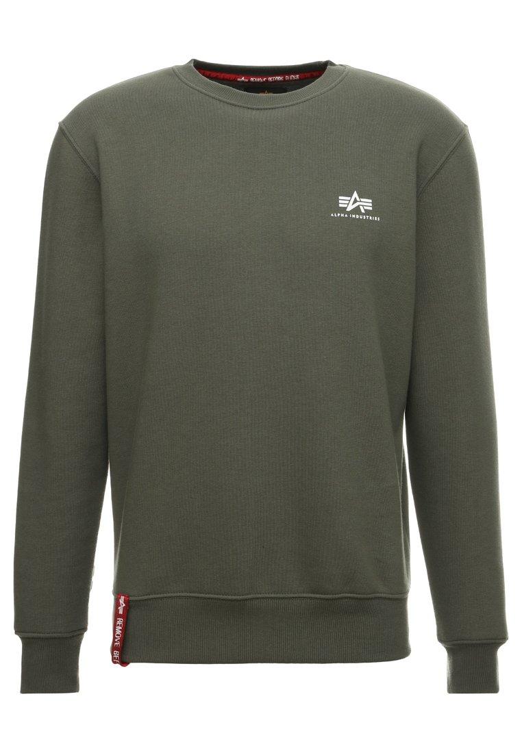 Alpha Industries Basic Small Logo - Sweatshirt Dark Oliv/mørkegrønn