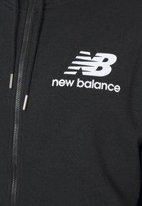 New Balance - ESSENTIALS STACKED FULL ZIP HOODIE - Felpa aperta - black - 2