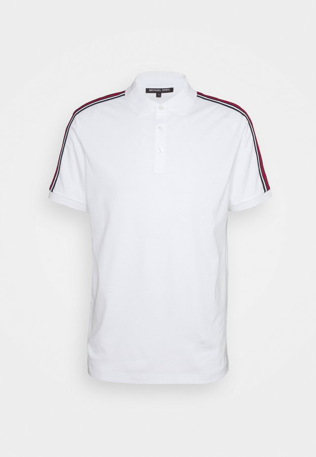 LOGO TAPE - Polo shirt - white