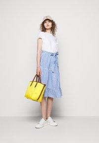 Polo Ralph Lauren - GINGHAM - A-line skirt - medium blue - 1