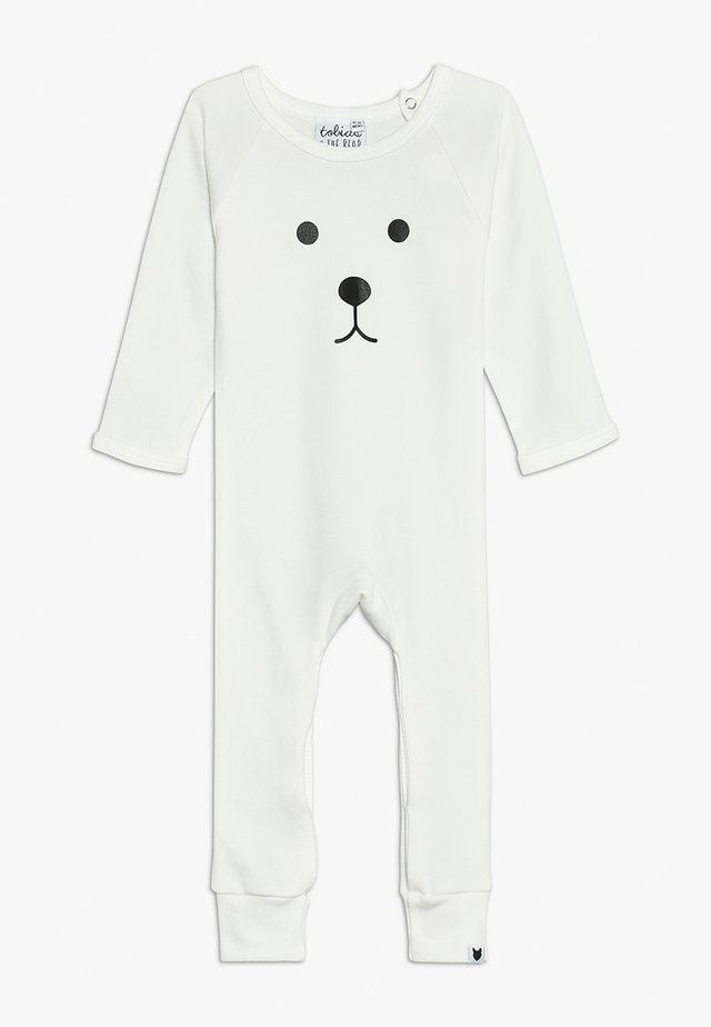 BABY BEAR FACE LONG ROMPER - Pyjama - white