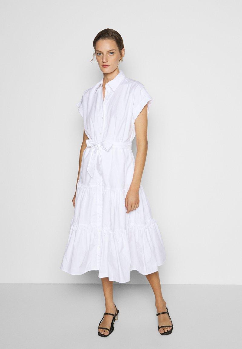 Lauren Ralph Lauren - BROADCLOTH DRESS - Košilové šaty - white