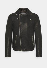 Goosecraft - BERLINER BIKER - Leather jacket - black - 6