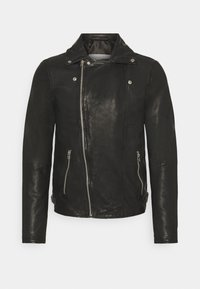 BERLINER BIKER - Leather jacket - black