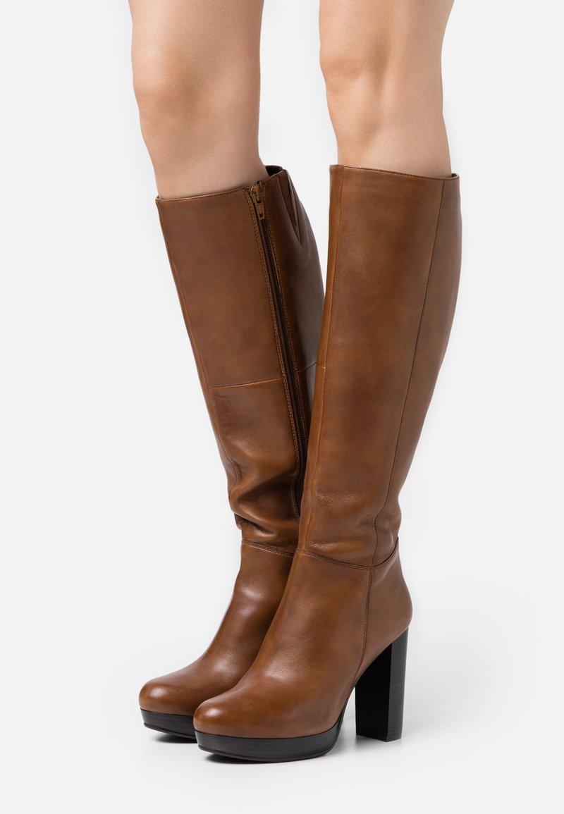 Steven New York - JAMILA - High heeled boots - cognac