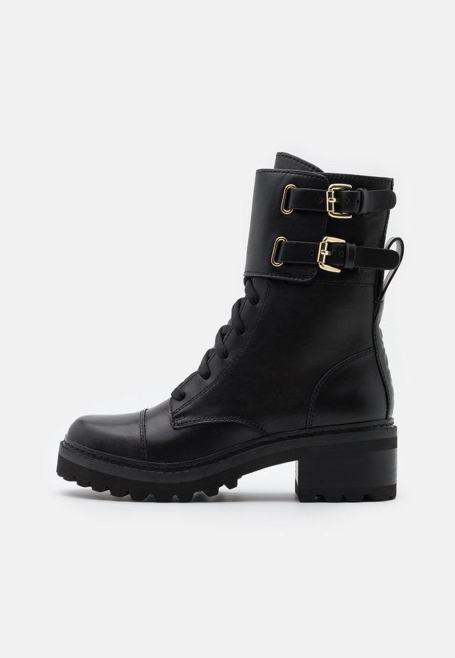 BART COMBAT BOOT BUCKLE - Lace-up ankle boots - black