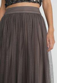 Lace & Beads - MARIKO SKIRT - Maxi sukně - stone - 5