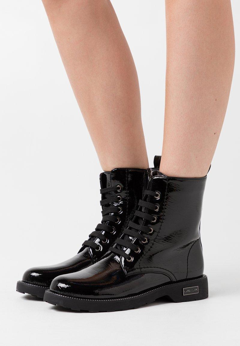 KHARISMA - Šněrovací kotníkové boty - nero