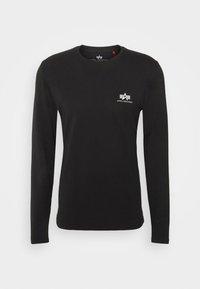 Alpha Industries - BACK PRINT HEAVY - Long sleeved top - black - 4