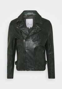 Goosecraft - BERLINER BIKER - Leather jacket - dark green - 0
