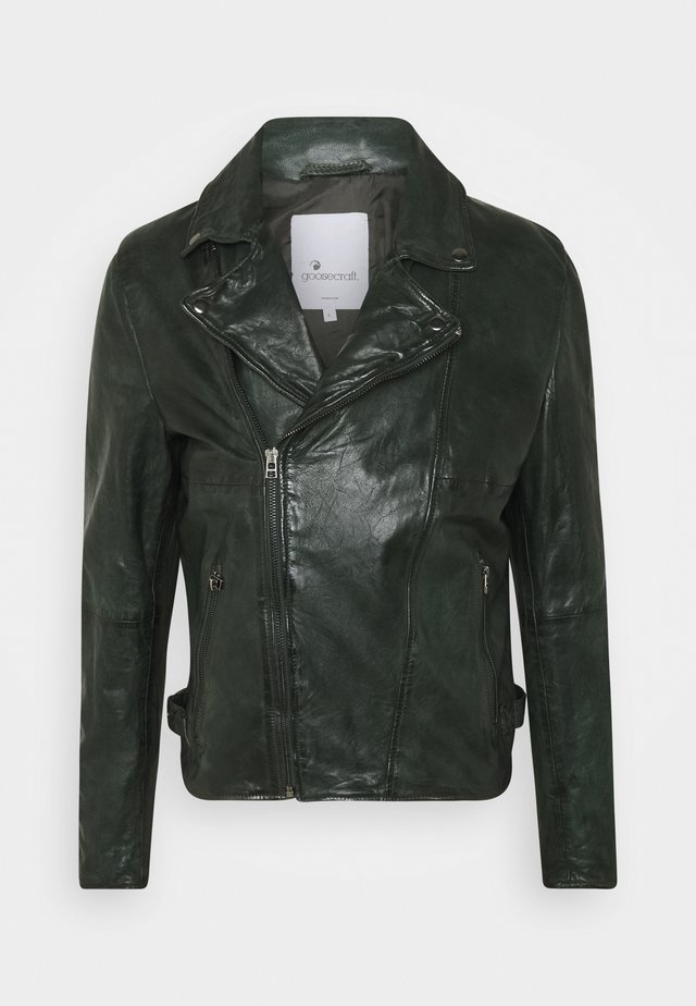 BERLINER BIKER - Nahkatakki - dark green