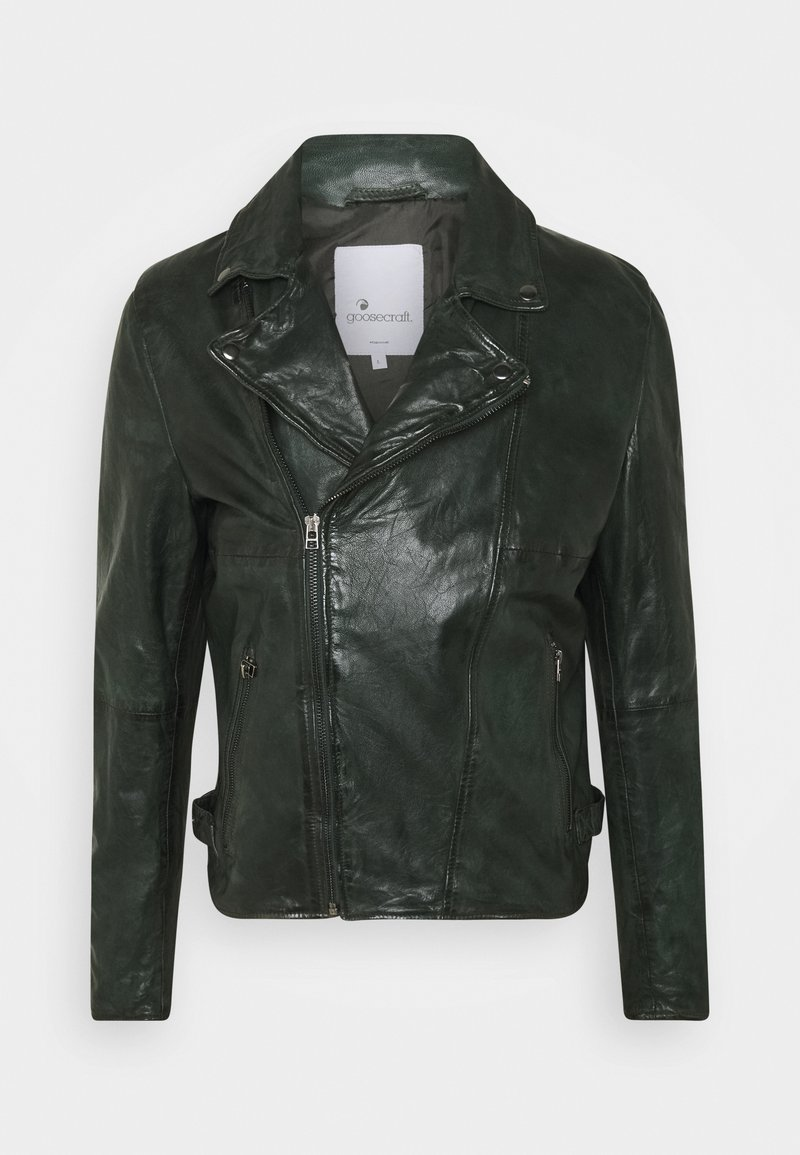 Goosecraft - BERLINER BIKER - Leather jacket - dark green