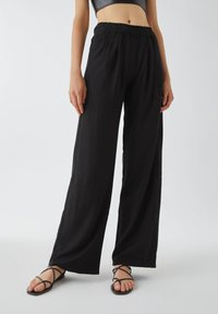 PULL&BEAR - Trousers - black - 0