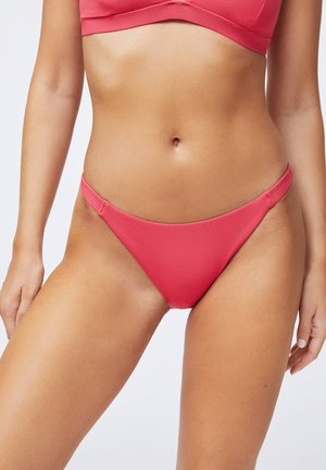 WITH STRAP DETAIL  - Bikini bottoms - coral