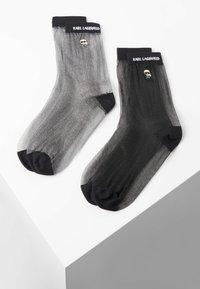 KARL LAGERFELD - 2 PACK - Socks - black silver - 0
