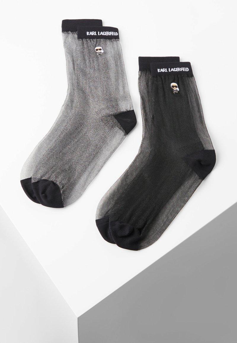 KARL LAGERFELD - 2 PACK - Socks - black silver