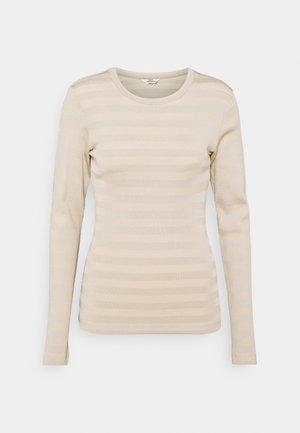 TONAL STRIPE TUBA - T-shirt à manches longues - warm beige