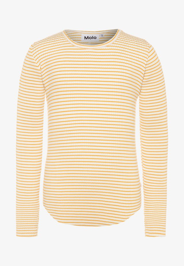 ROCHELLE - Strickpullover - white/yellow