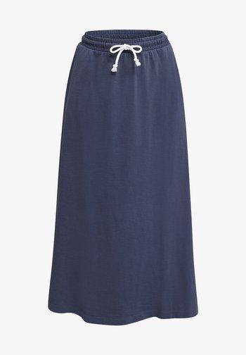 SLUB-JERSEY-ROCK AUS 100% ORGANIC COTTON - Maxi skirt - navy