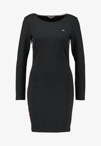 Tommy Jeans - TJW TAPE DETAIL BODYCON DRESS - Shift dress - tommy black - 4