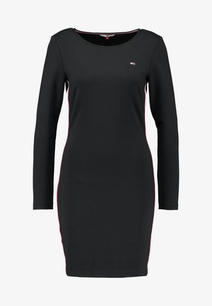 TJW TAPE DETAIL BODYCON DRESS - Shift dress - tommy black
