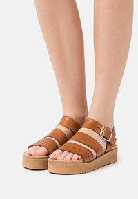Musse & Cloud - DIKY - Platform sandals - brown - 0