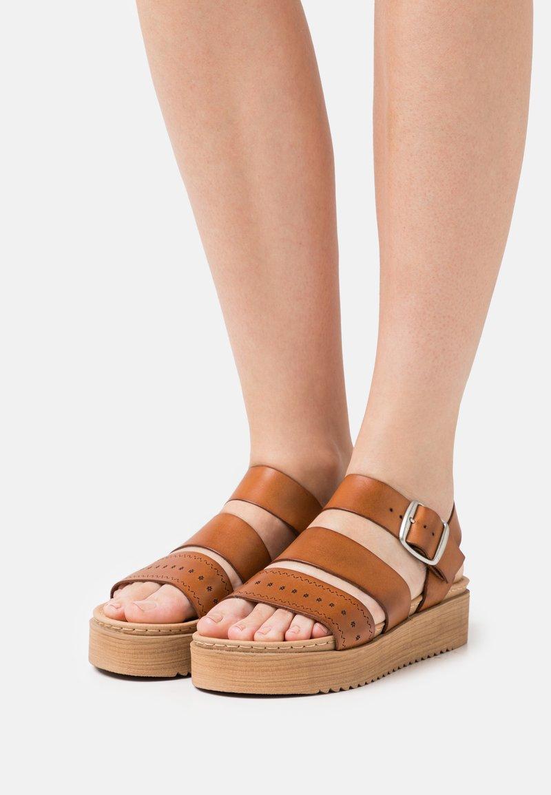 Musse & Cloud - DIKY - Platform sandals - brown