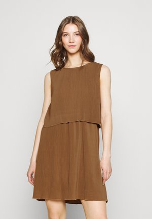 ONLMARIN LAYERING SHORT DRESS - Jersey dress - toasted coconut