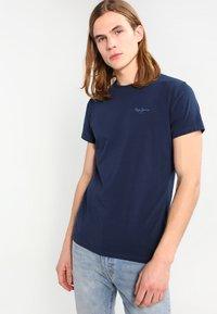 Pepe Jeans - ORIGINAL BASIC - Camiseta básica - azul marino - 0