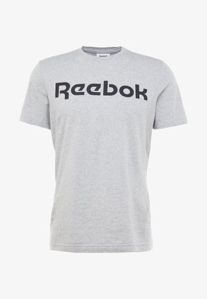 LINEAR READ TEE - T-shirt print - medium grey heather
