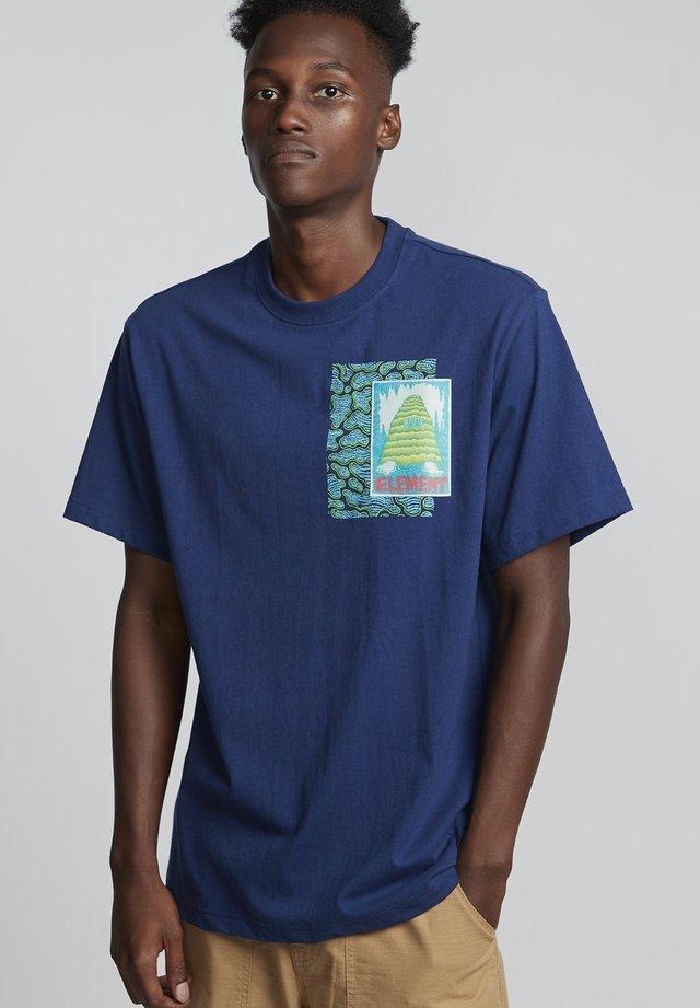 T-shirt print - blue depths