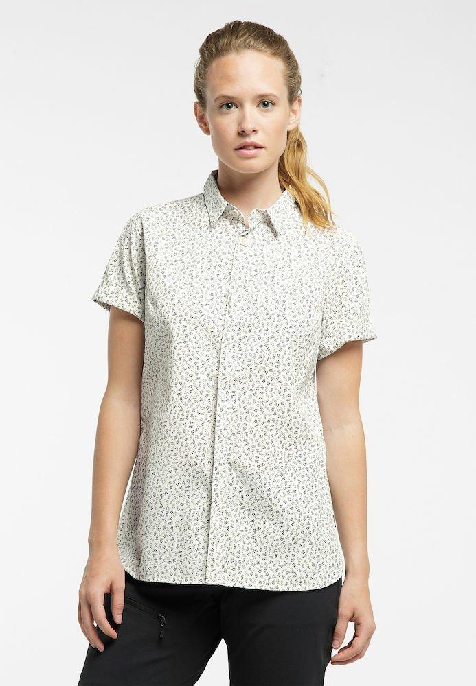 Haglöfs - IDUN SS SHIRT - Button-down blouse - soft white flower