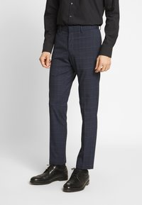 Isaac Dewhirst - CHECK SUIT - Garnitur - dark blue - 4