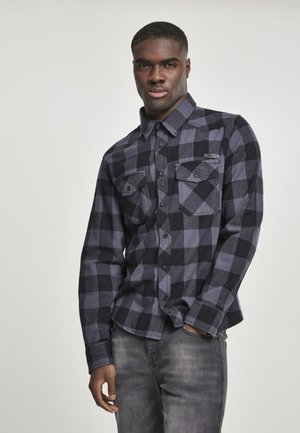 HERREN CHECKSHIRT - Shirt - black