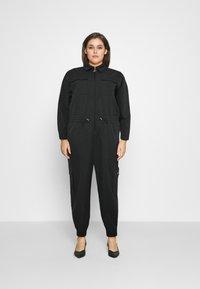Nike Sportswear - UTILITY - Jumpsuit - black/white - 0