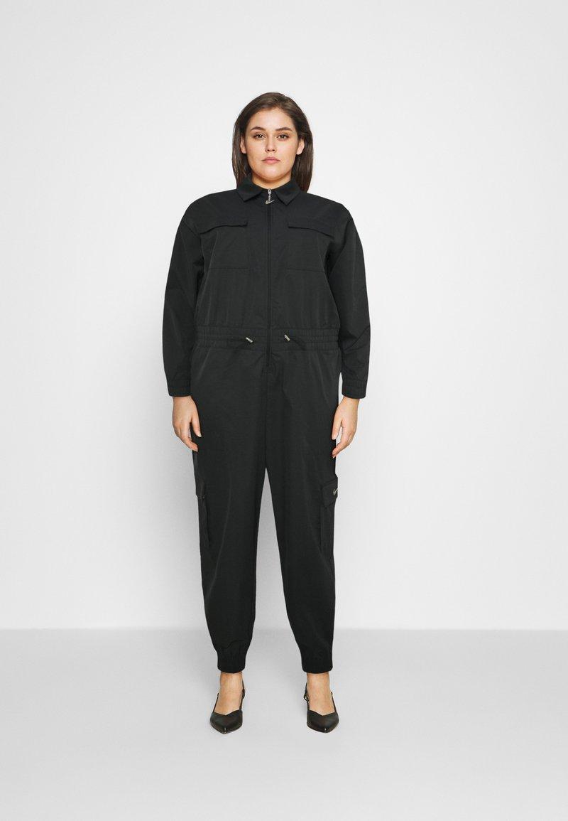 Nike Sportswear - UTILITY - Jumpsuit - black/white