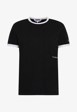 CONTRASTED RINGER TEE - T-shirts basic - black/white