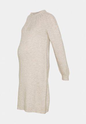 DRESS CABLES - Jumper dress - whisper white melange