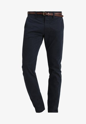 ESSENTIAL SOLID - Trousers - outer space blue